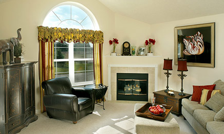 The Villages of River Oaks Living Room - Heath New Homes For Sale