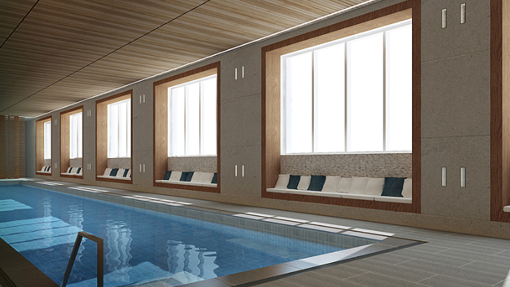 Viridian New Condos For Sale - Pool- New York City