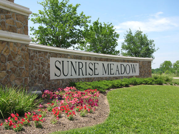 Sunrise Meadow Houston New Homes For Sale - Community Entrance