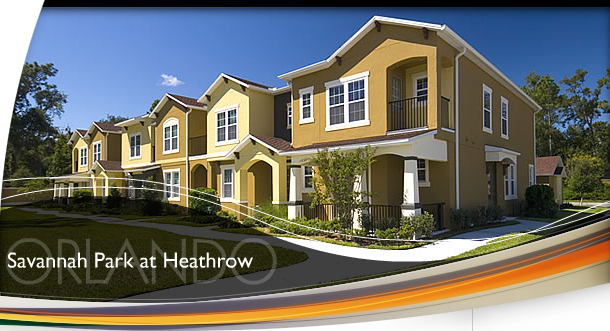 Orlando Florida Townhomes For Sale at Savannah Park