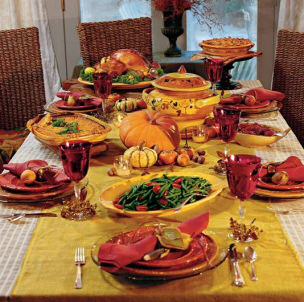 Green Thanksgiving Tips - Thanksgiving Table