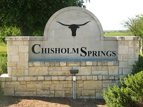 New Homes at Chisholm Springs Entrance