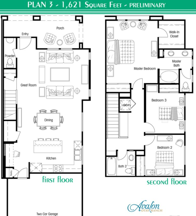 Avalon Townhomes Plan 3