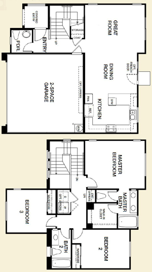 Northern Terrace in Providence Floor Plan