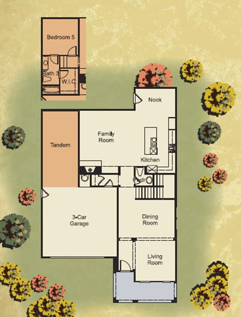 Santa Rita New Homes Residence Two First Floor