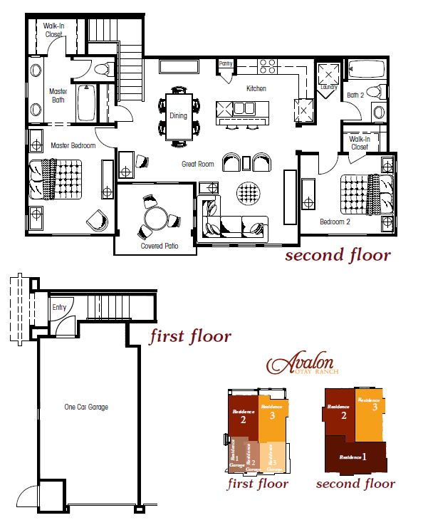 Avalon at Otay Ranch New Townhomes Floorplans