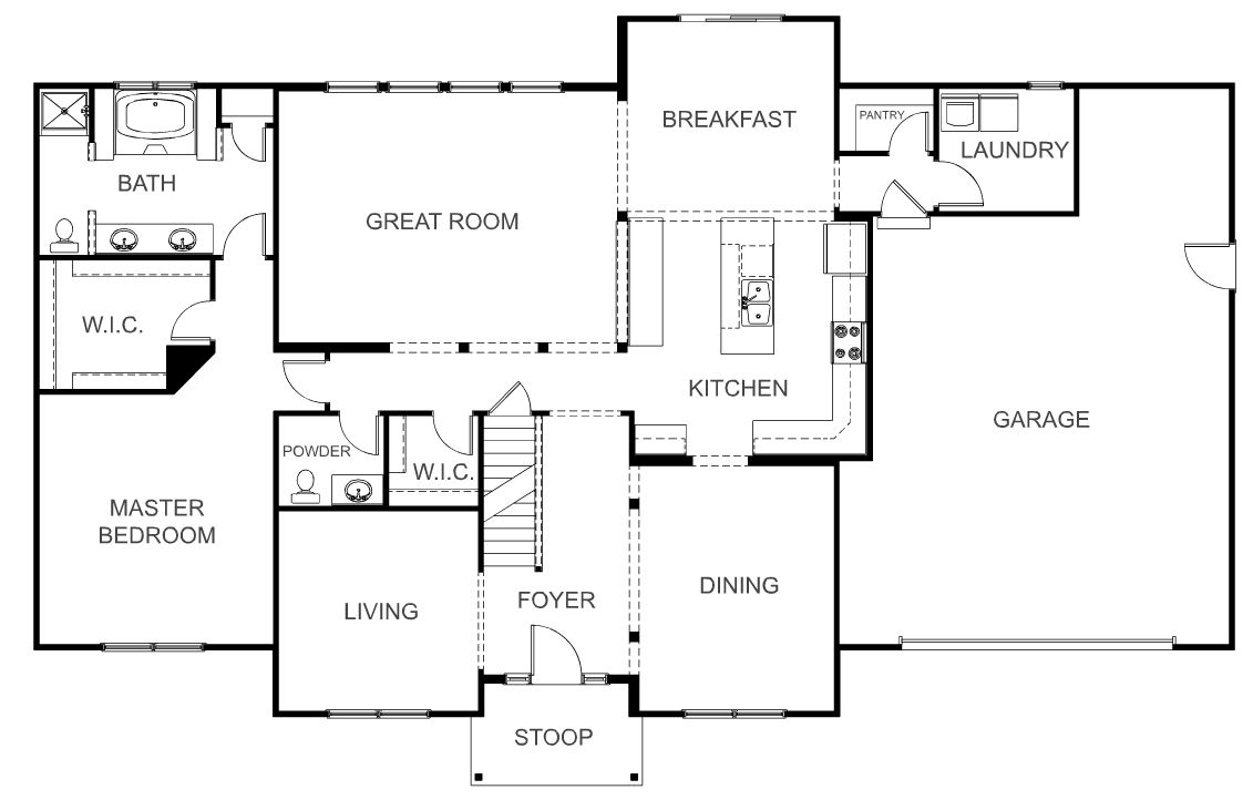 Wayne homes ohio floor plans for Saratoga homes floor plans