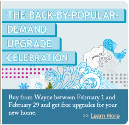 Wayne Homes Pittsburgh Upgrade Promotion 2012