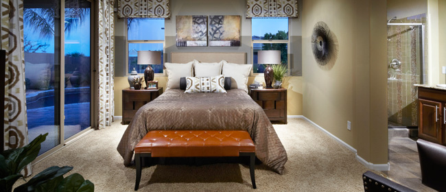 Canyon Trails New Homes Master Bedroom