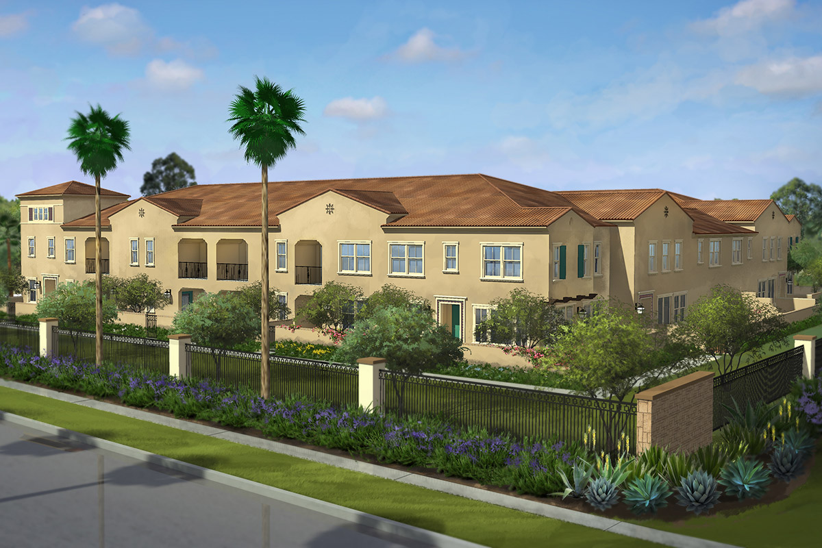 Lake Forest New Townhomes at El Paseo at The Village of Foothill Ranch