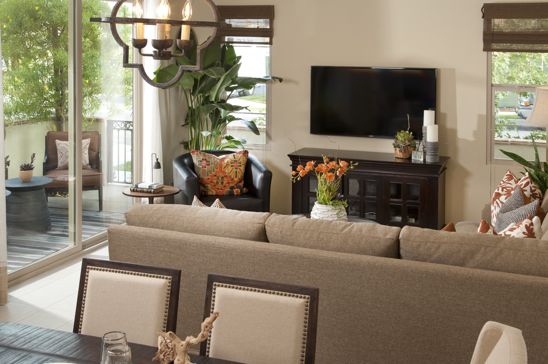 Living Room of the New Townhomes of Cortile at Colony Park