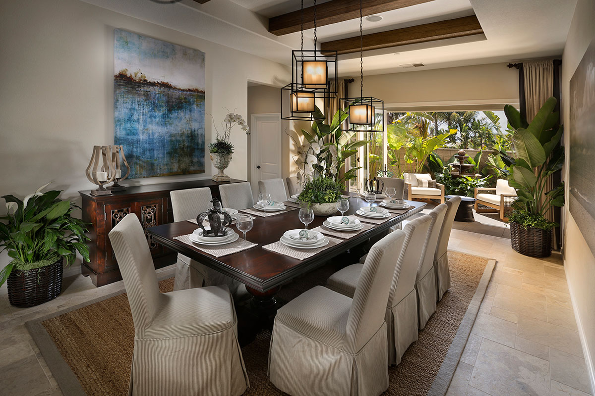 Dining Room of Seaside Ridge at Encinitas Homes