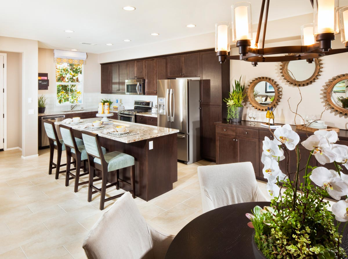 Palmetto at Rosedale New Townhomes - Kitchenand Dining Room