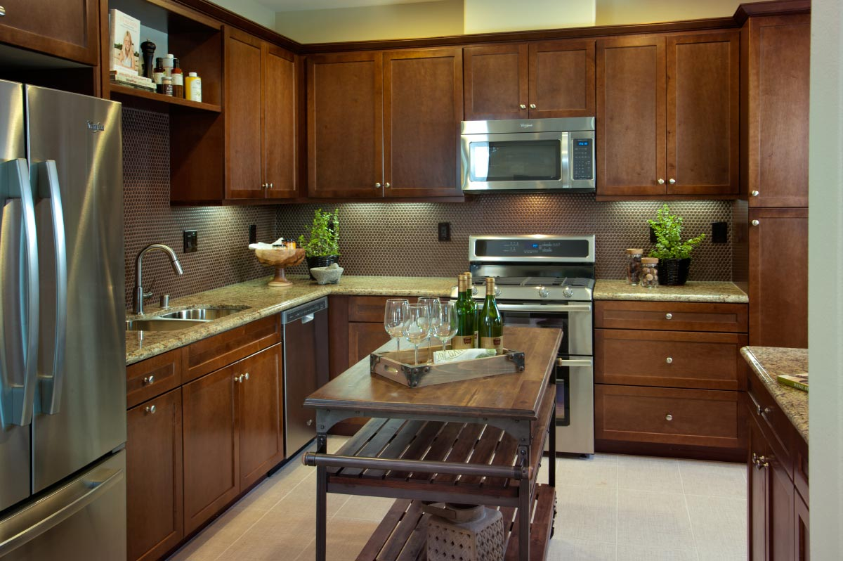 Kitchen of Cortile at Colony Park New Townhomes