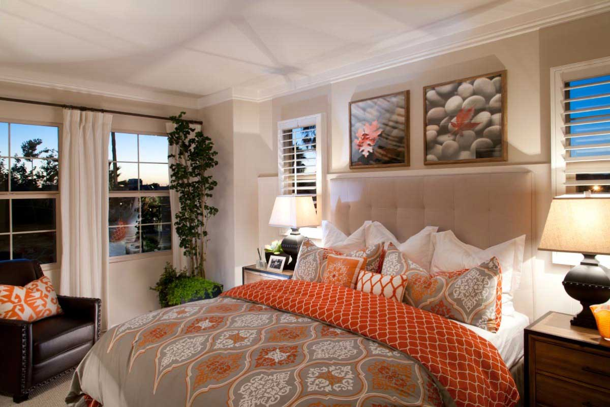 Master Bedroom of Casita New Homes at Colony Parks