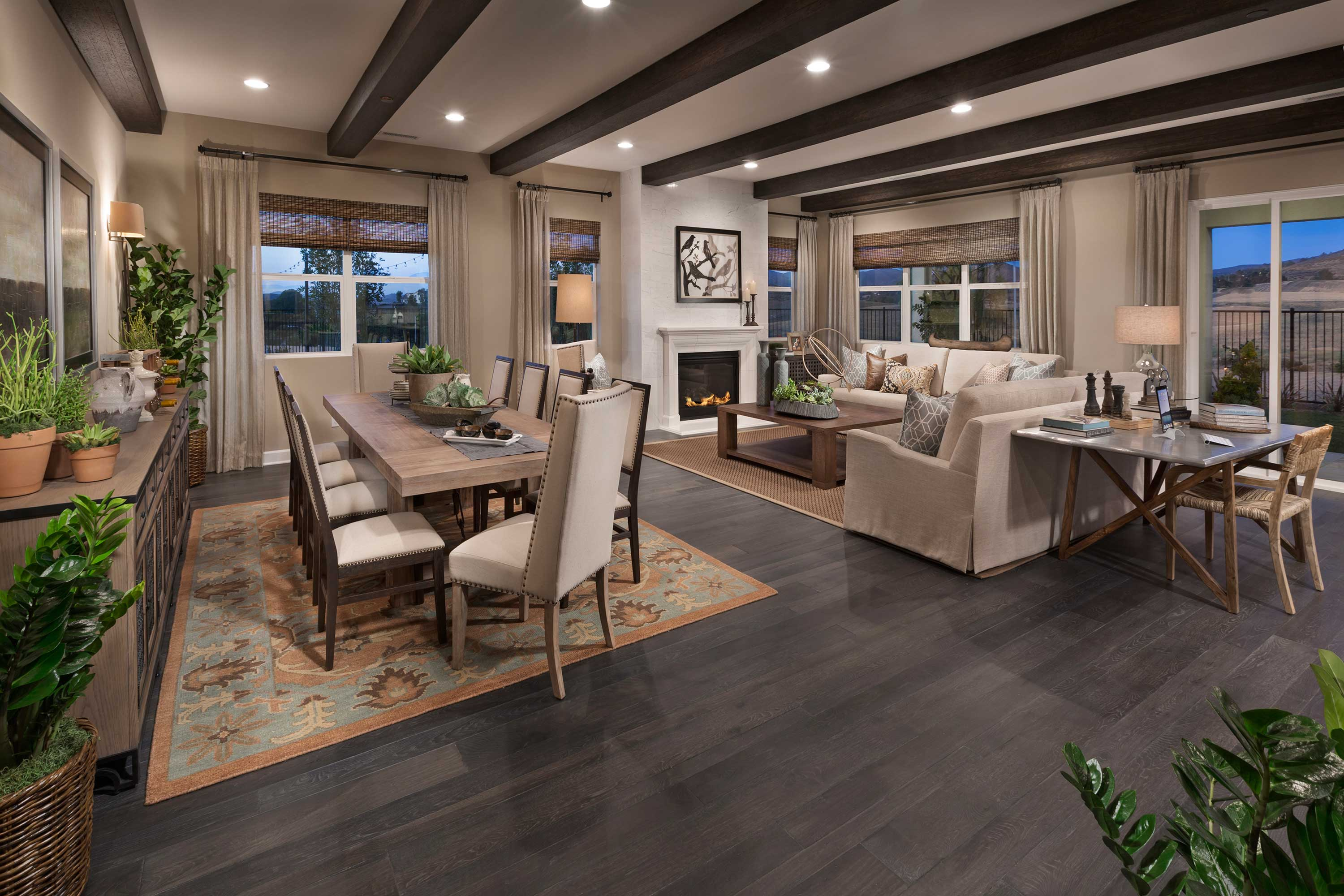 Dining Room of Liberty at Morningstar Ranch New Homes