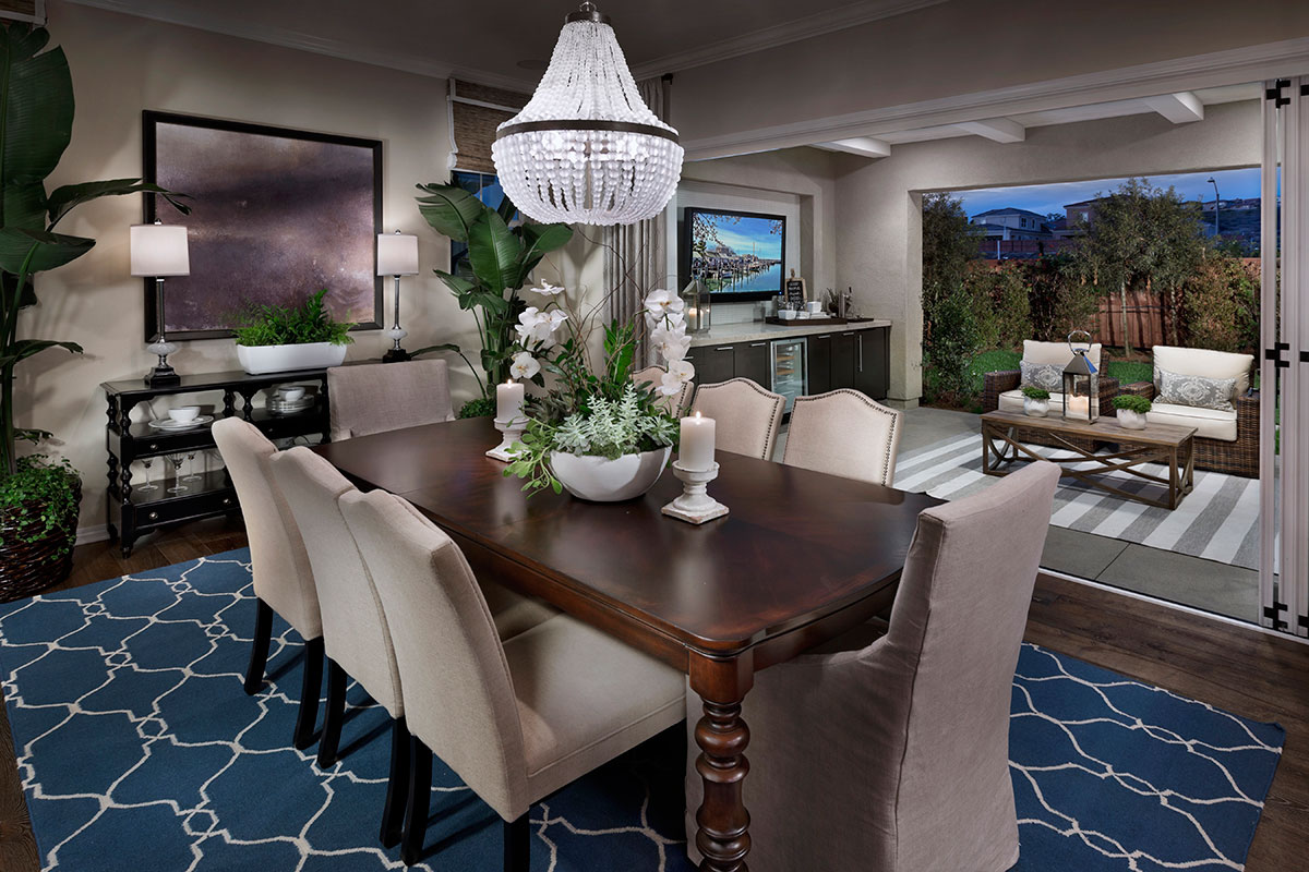 Dining Room of a new home in Palo Verde at the Foothills