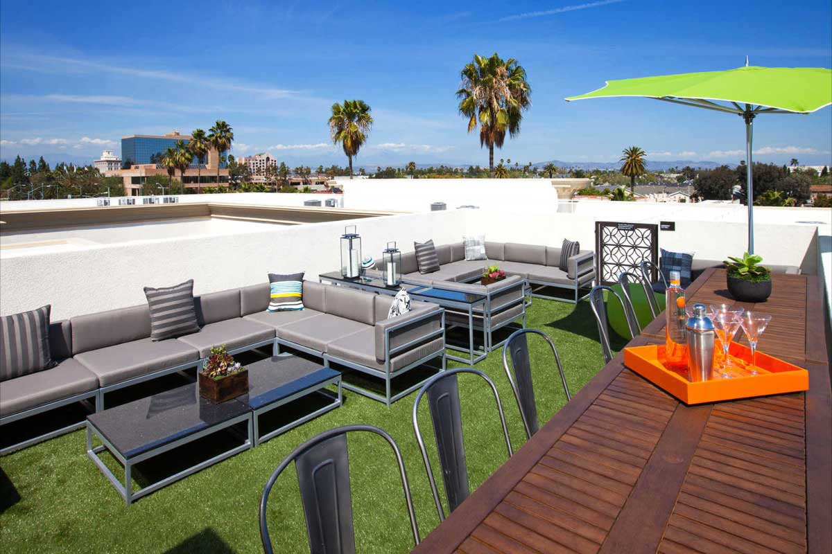 New Townhomes The Domain in Anaheim - Roof Top Terraces