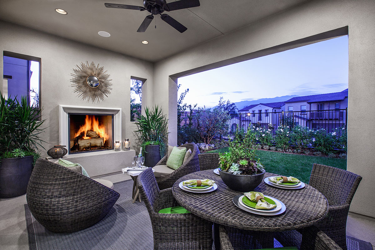 Azusa New Home for Sale - Camellia at Rosedale Outdoor Room