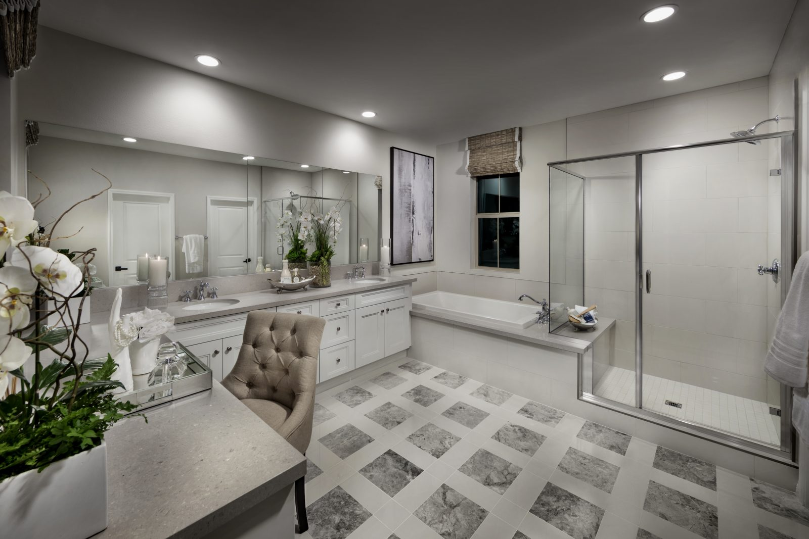 Residence One Master Bathroom of Legado at Portola Springs