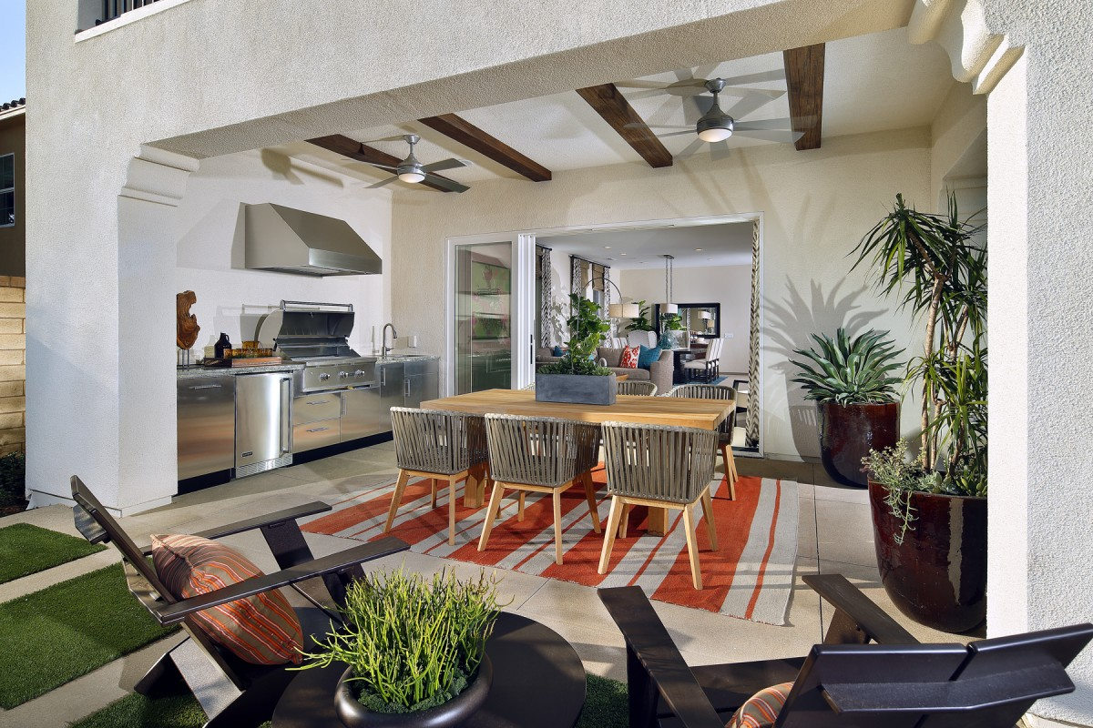 Santa Clarita New Homes - Outdoor Room