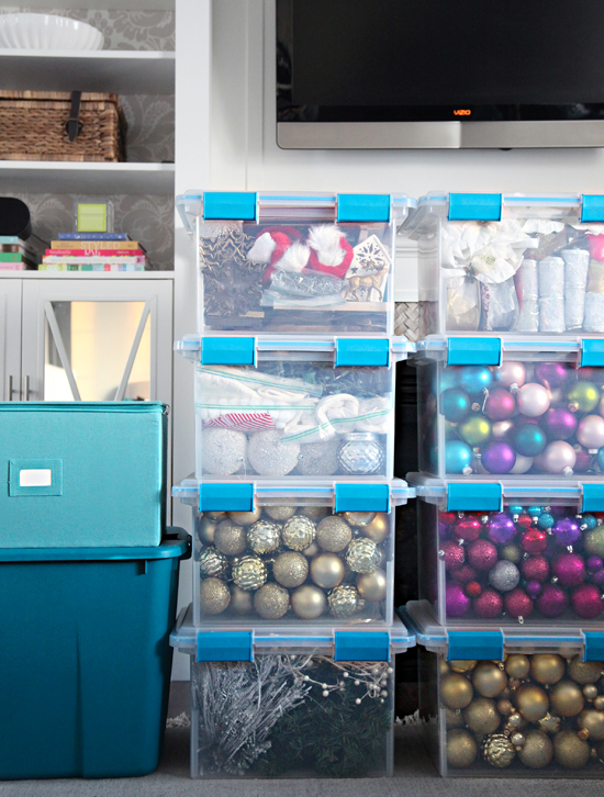 Holiday Decor Organization