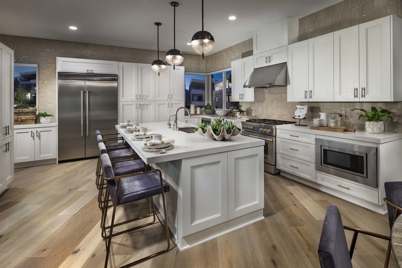 New Townhomes in Playa Vista Kitchen with island