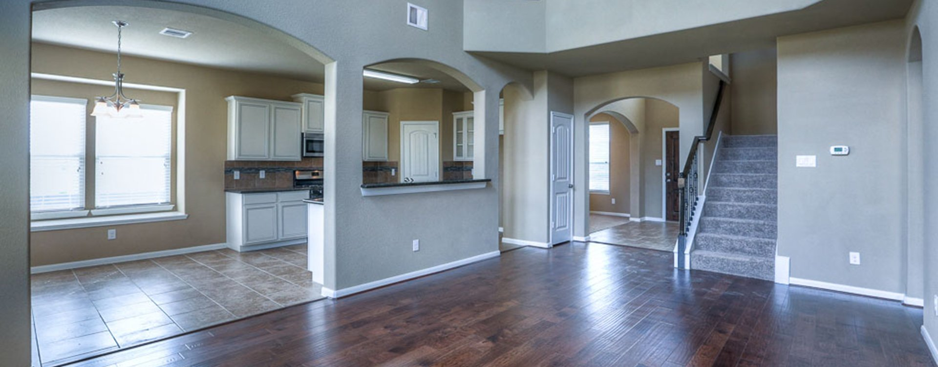 Living room area at new residence at Cypress Oaks in Katy TX
