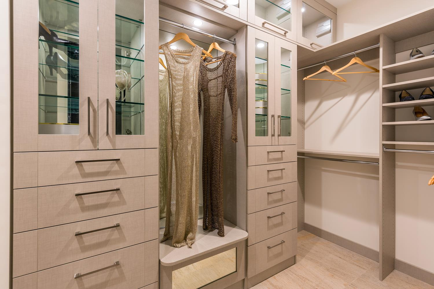 walk in closet in new los angeles community at jewel at playa visit