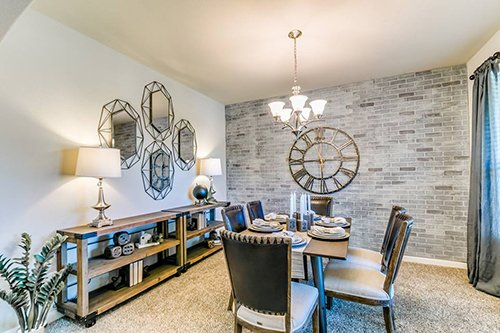 Dining area of Kendall Lakes new community