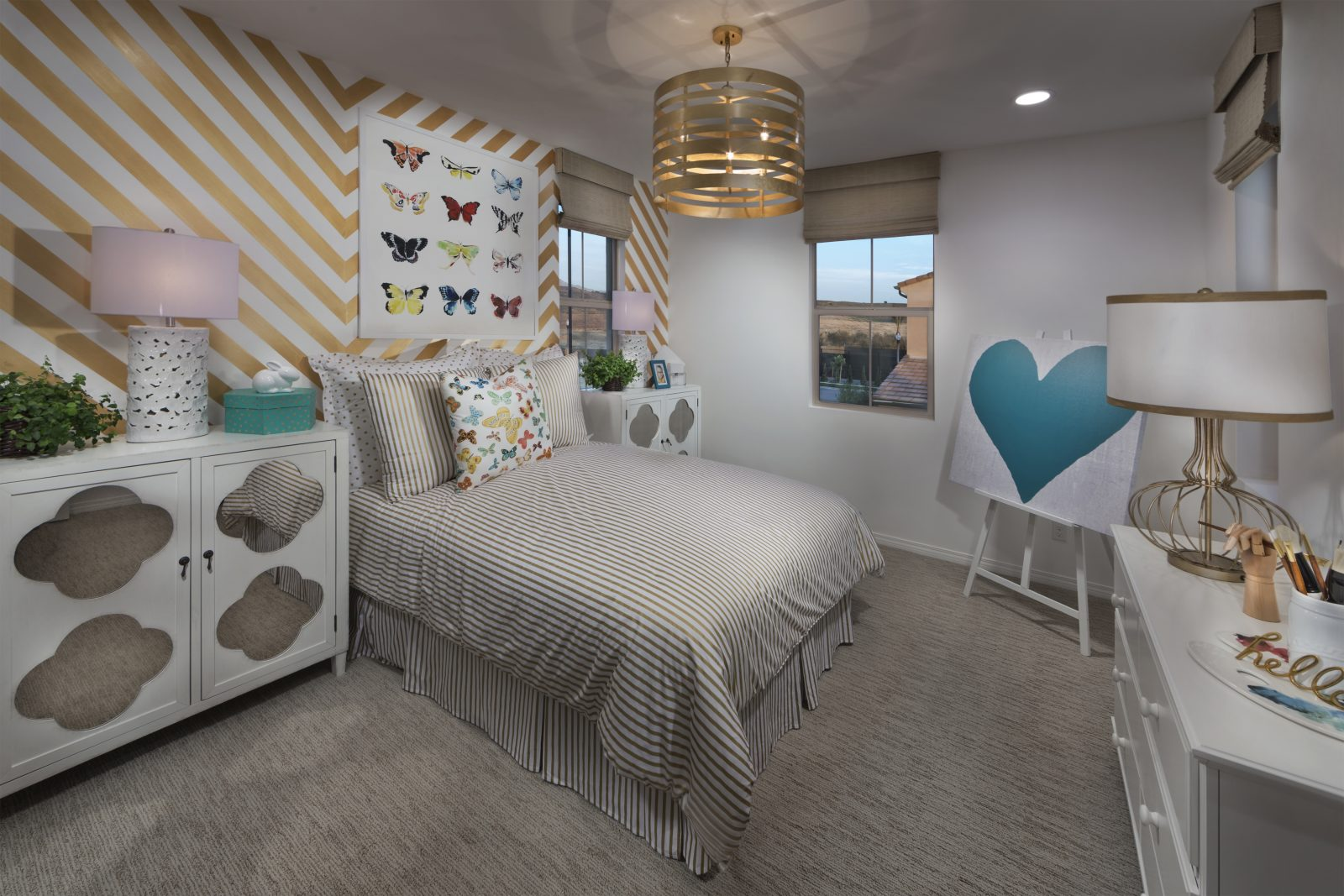 Bedroom in Irvine new home at Legado at Portola Springs