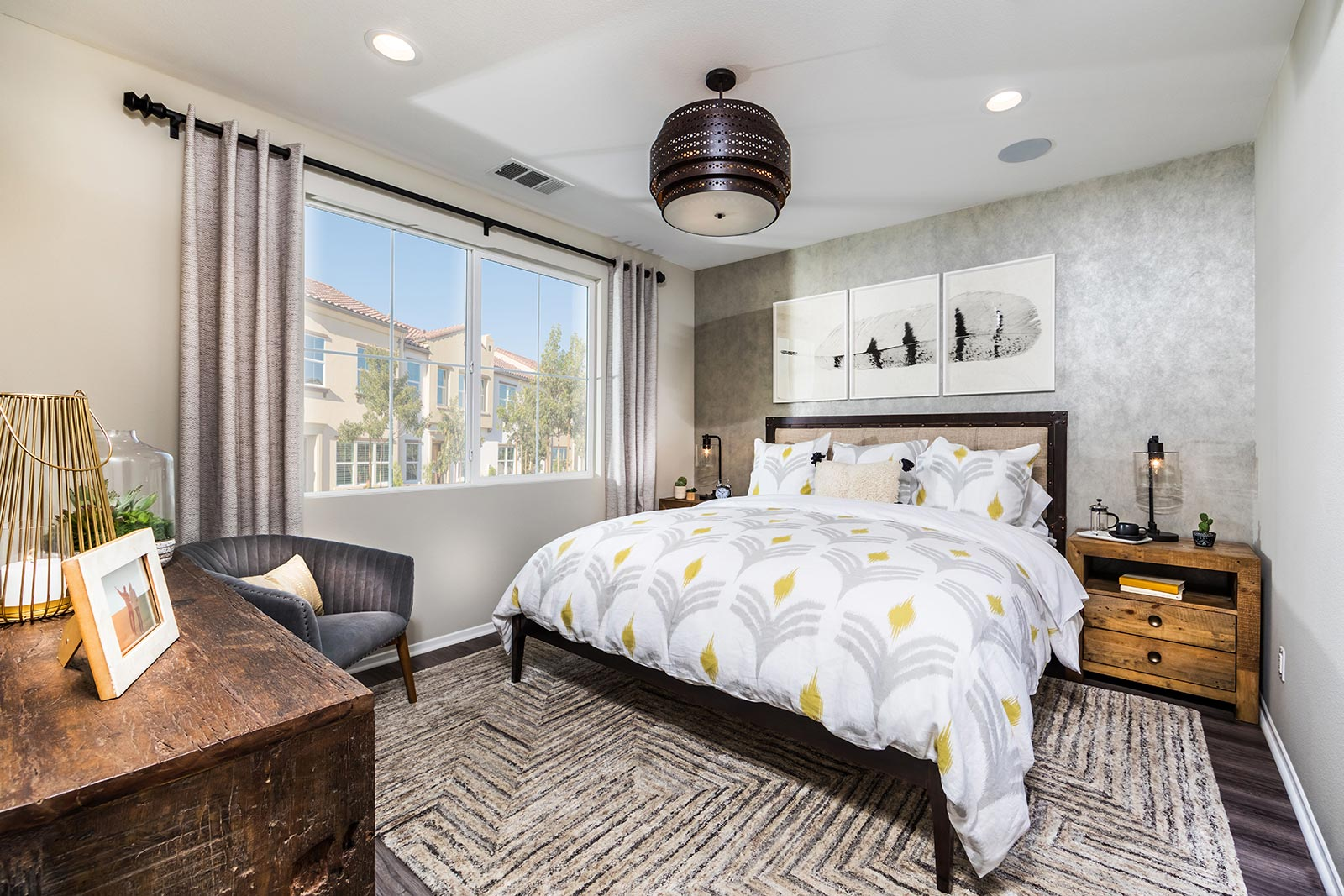 bedroom in San Bernardino townhome for sale at Solstice at new haven