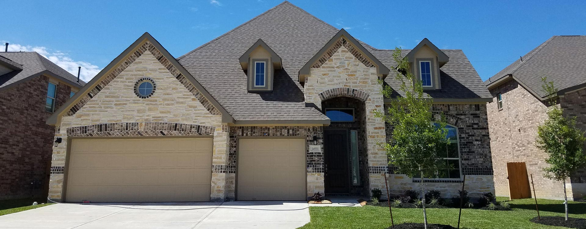 Fall Creek development of homes for sale in Humble Texas