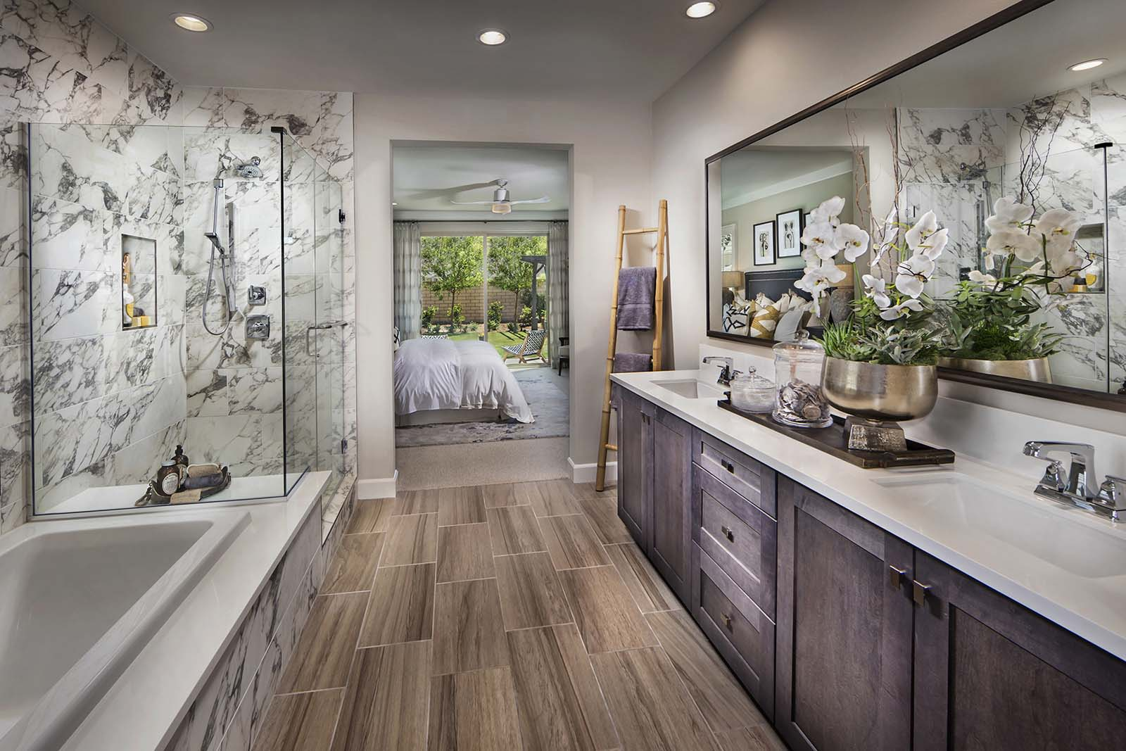 Master bathroom Savannah at Audie Murphy Ranch in Menifee California