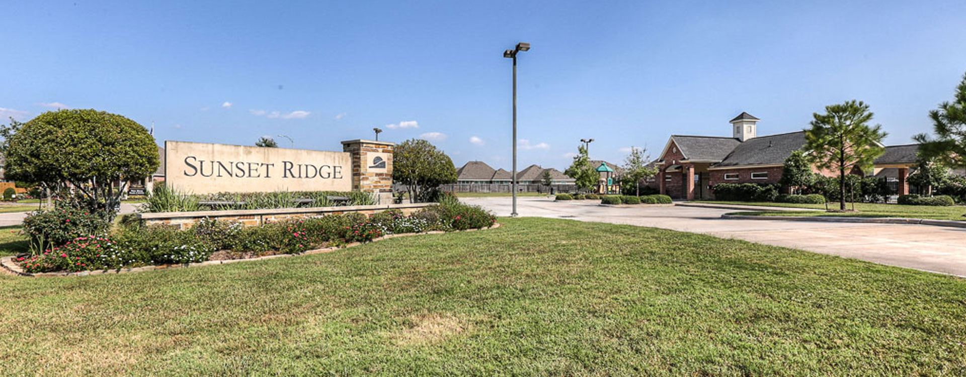 Sunset Ridge community of homes in Humble Texas