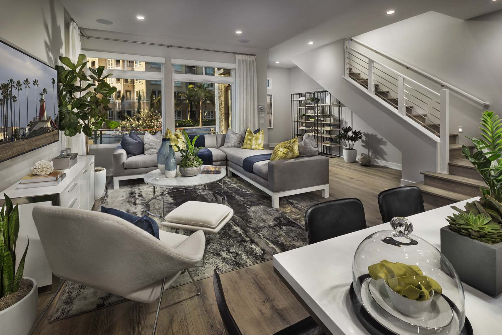 Living room The Collection at Playa Vista Los Angeles County
