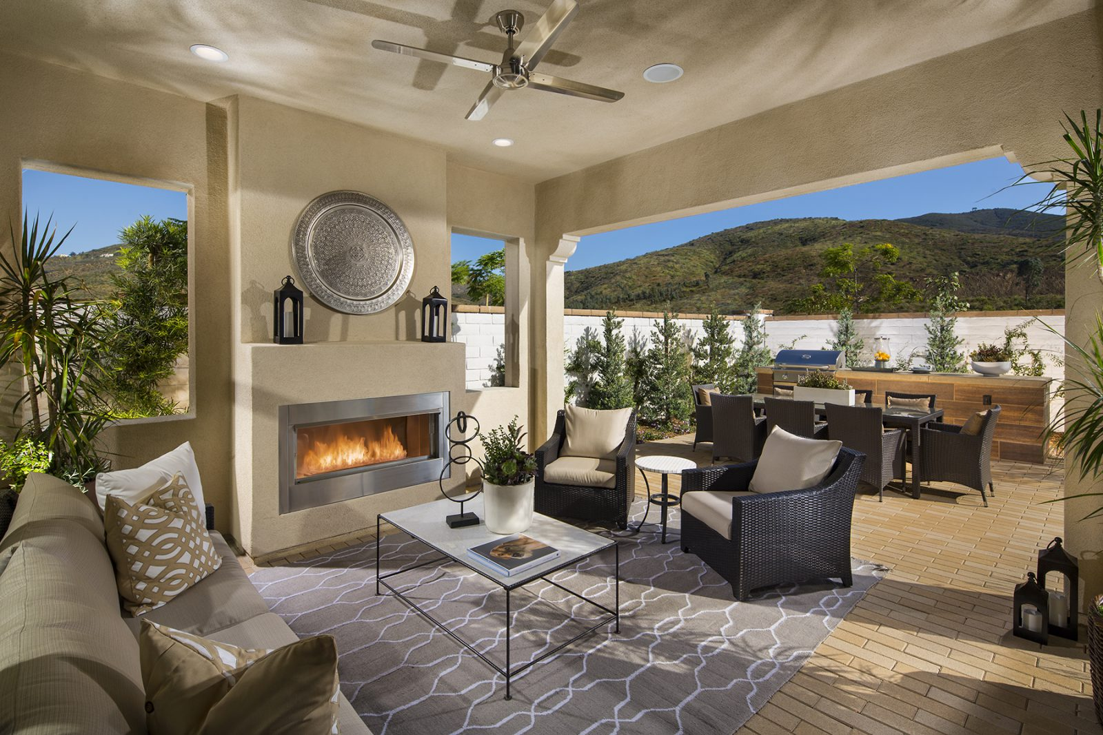 Covered Outdoor Room in San Diego New Homes for Sale