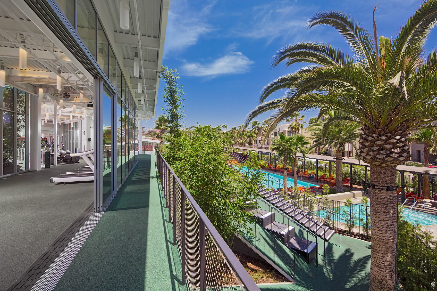 Resort Style Gym and Pool in Los Angeles New Homes for Sale