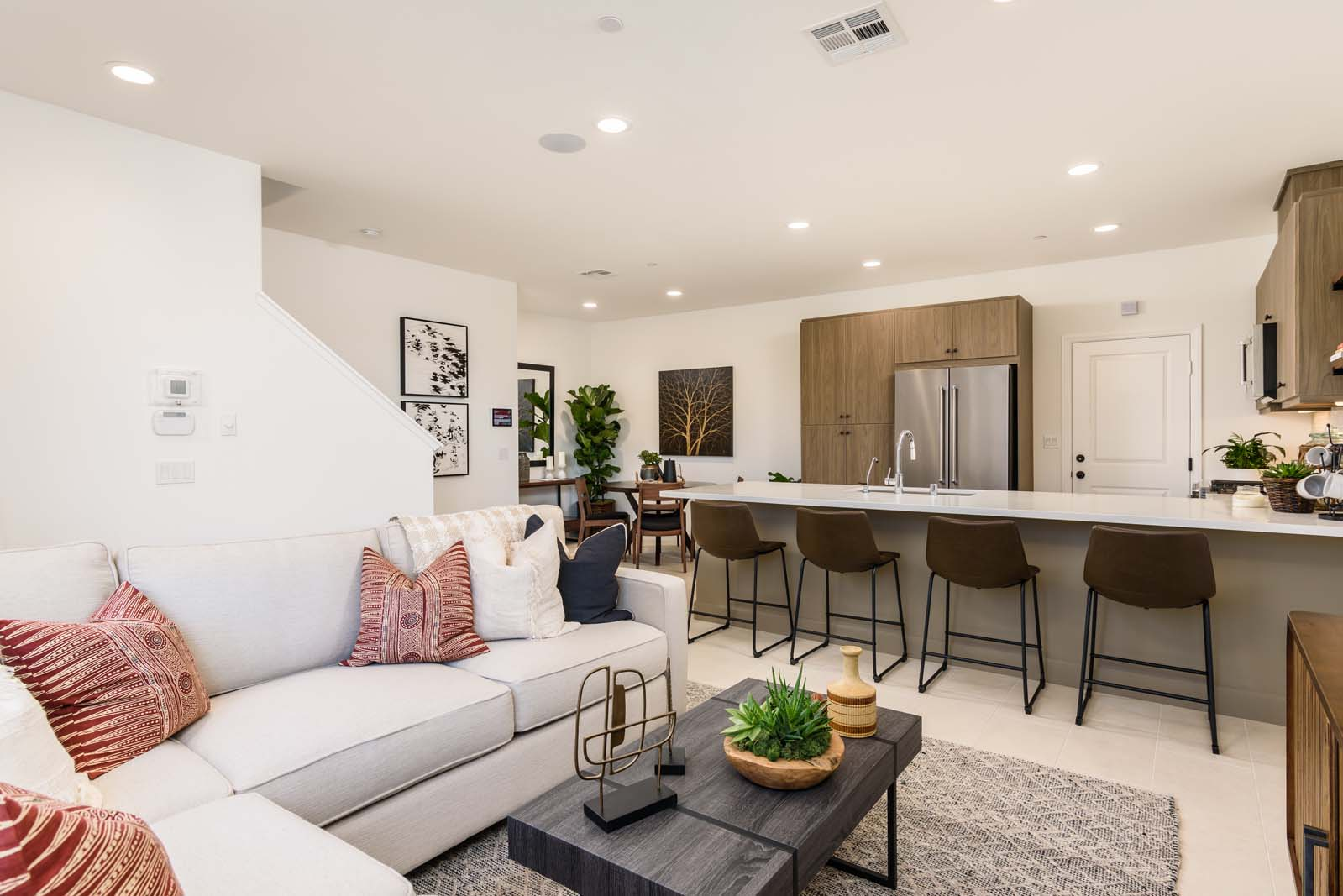 Great Room in Modern San Diego Townhomes for Sale