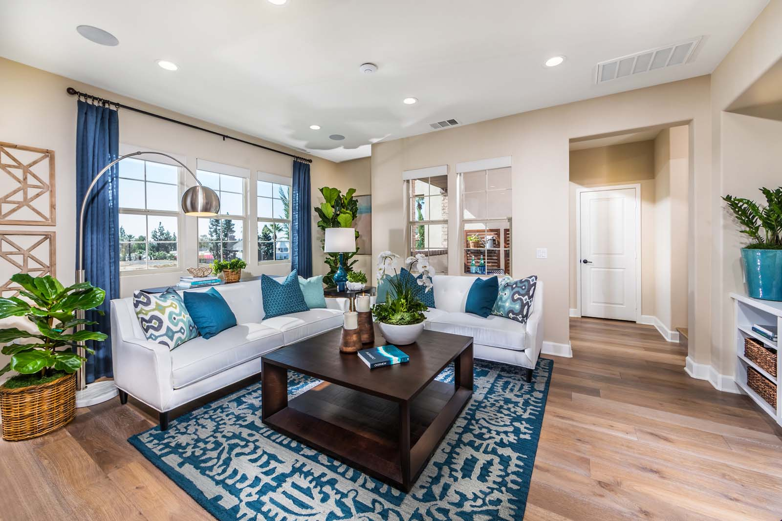 Living Room in New Azusa Towhomes for Sale