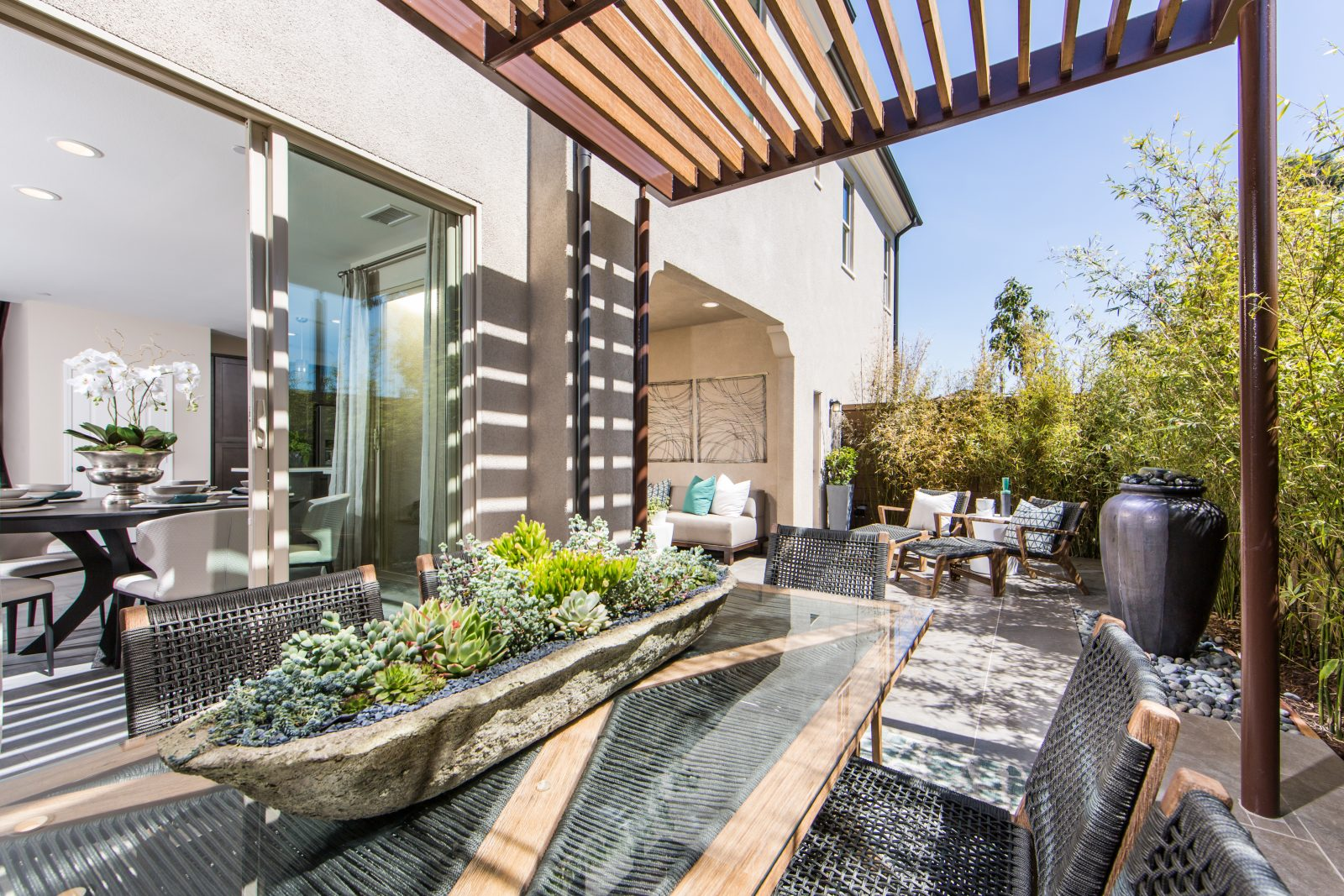 Private Patio with Outdoor Room in Irvine Townhomes for Sale