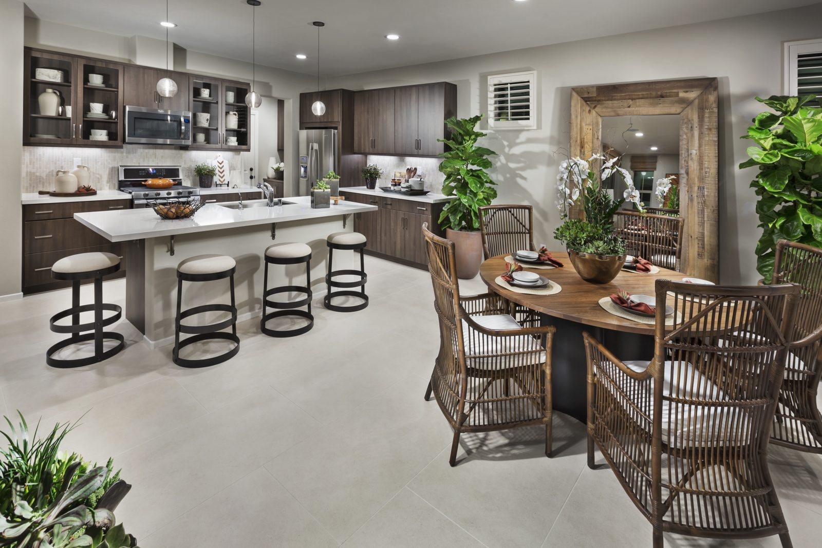 Dining and Kitchen in Ontario Ranch New Homes