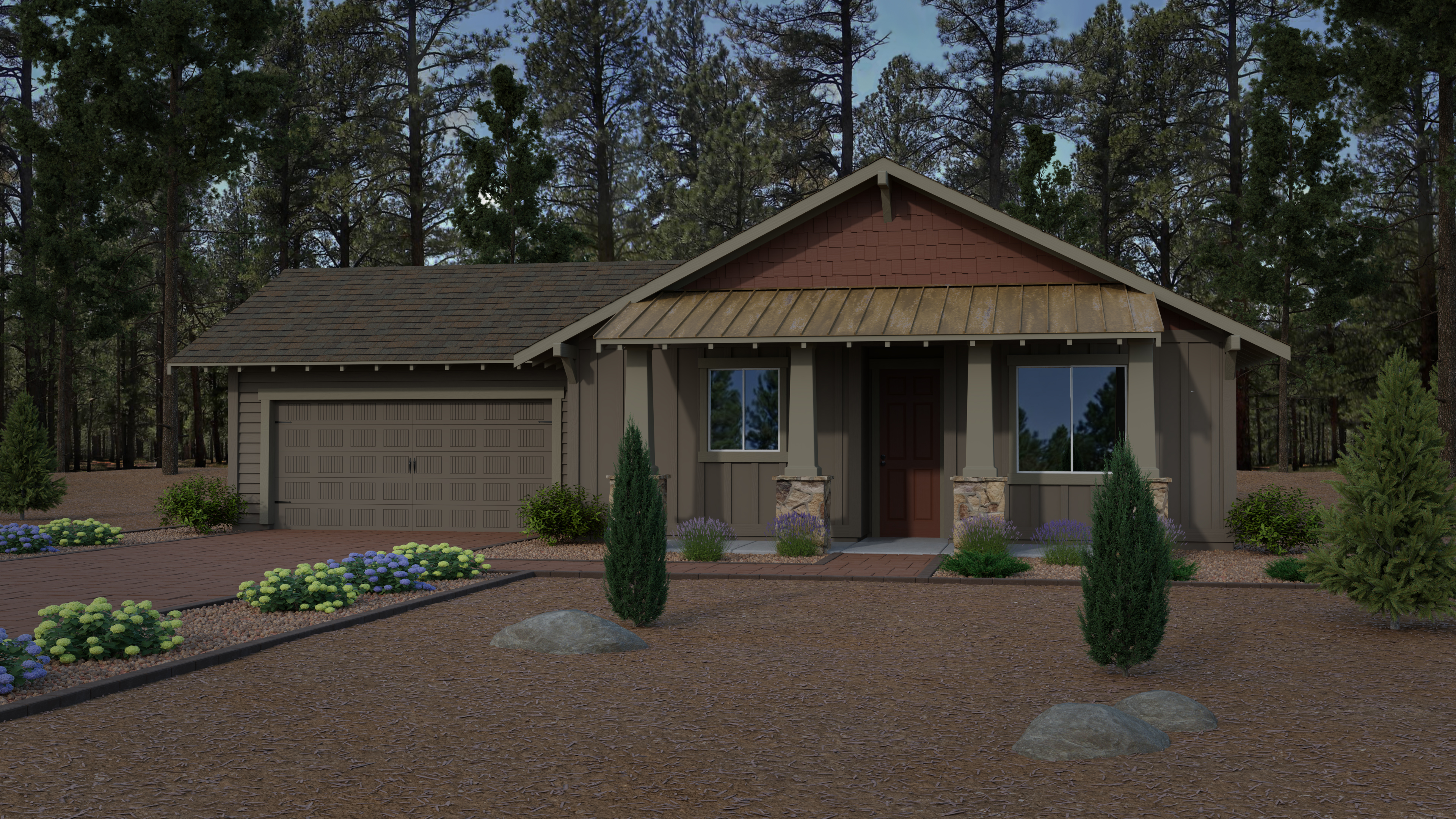 New home at Crestview by Capstone Homes in Flagstaff, AZ