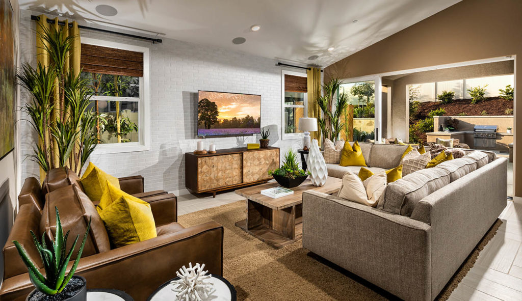 Living Room in Mira New Home Community in Riverside County