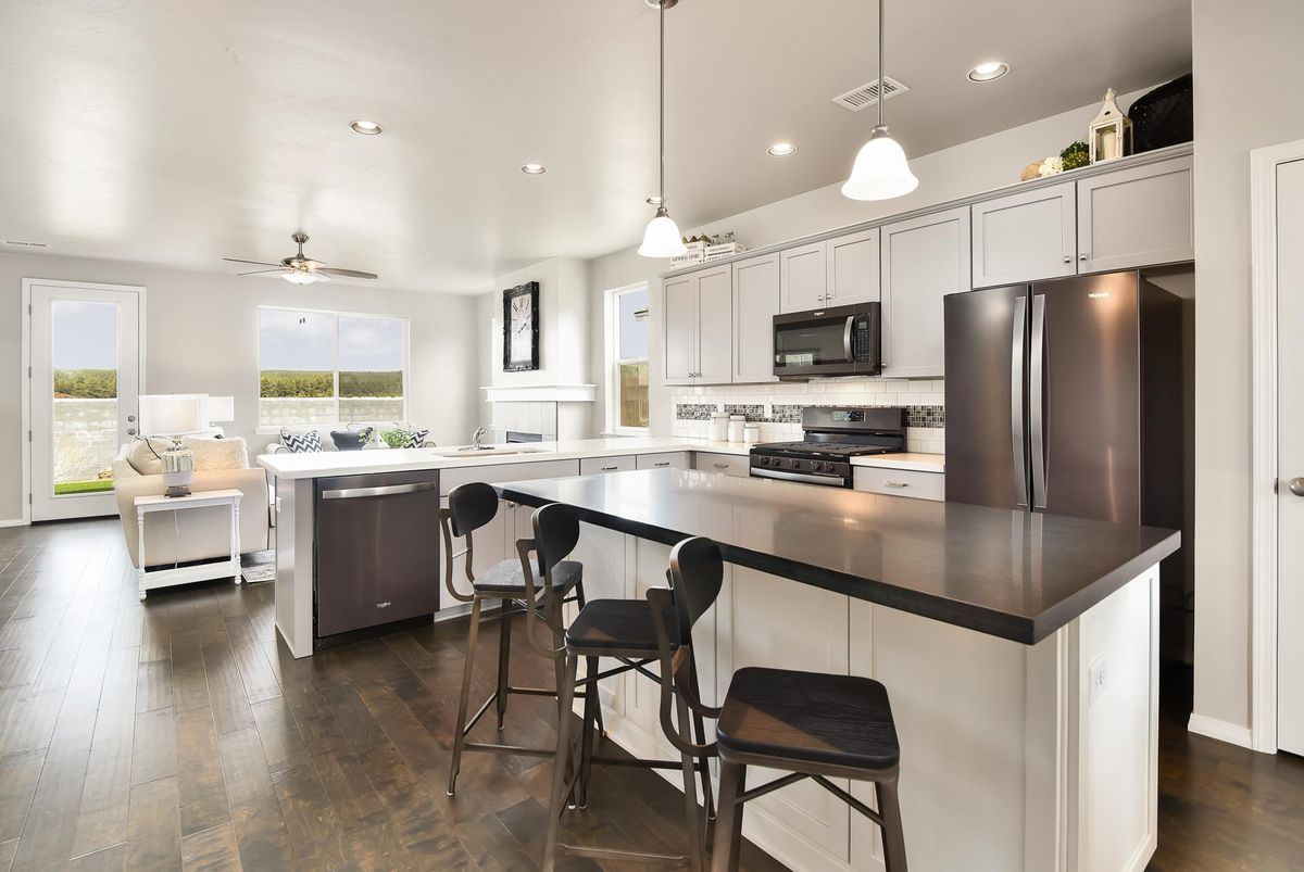 New kitchen in Bellemont Arizona new home at Flagstaff Meadows