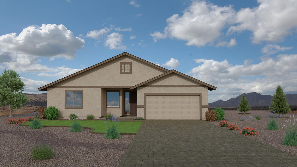 New model home at Highlands Ranch at Capstone Homes in Chino Valley, AZ