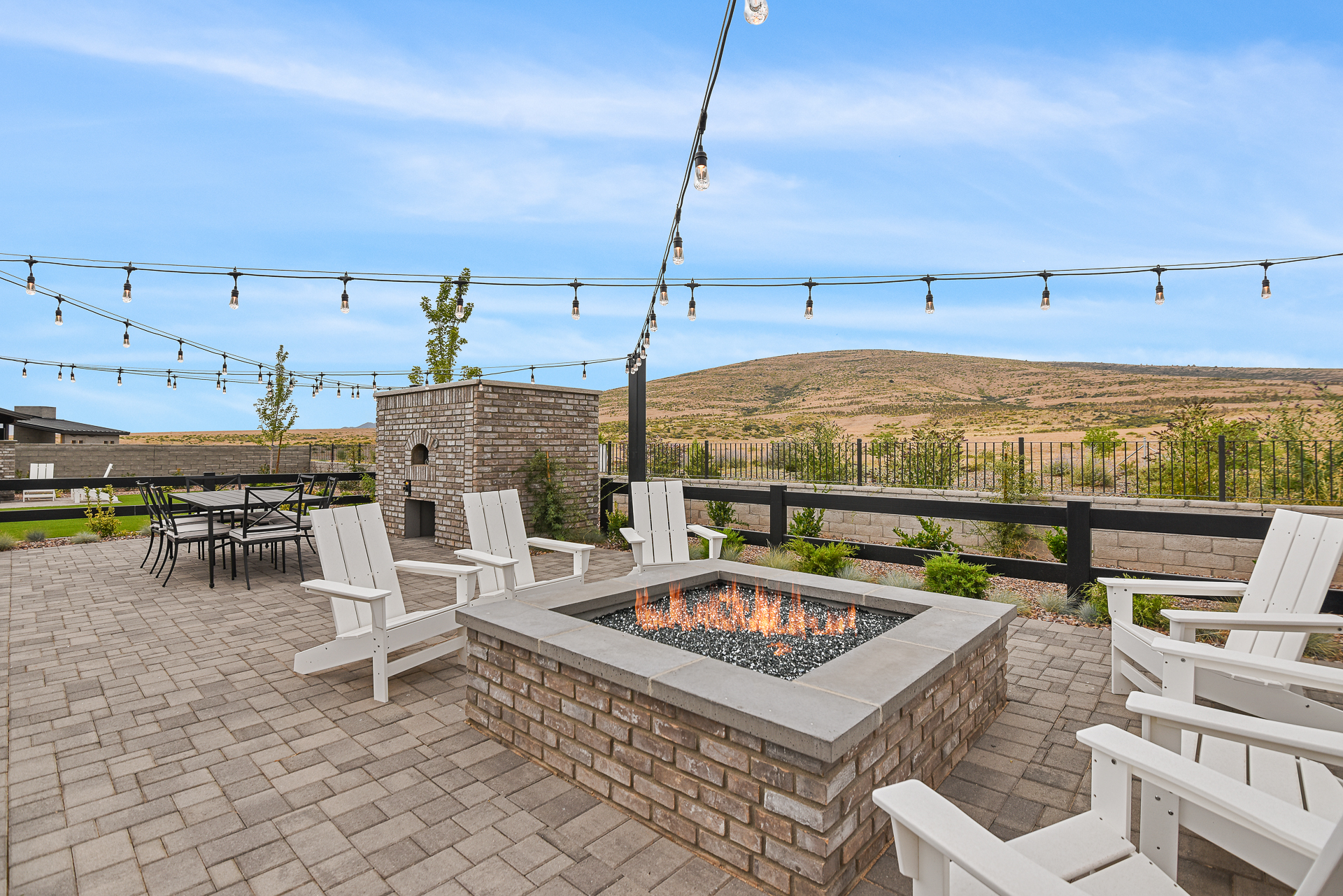 Fire Pit at New Home at Jasper at Capstone Homes