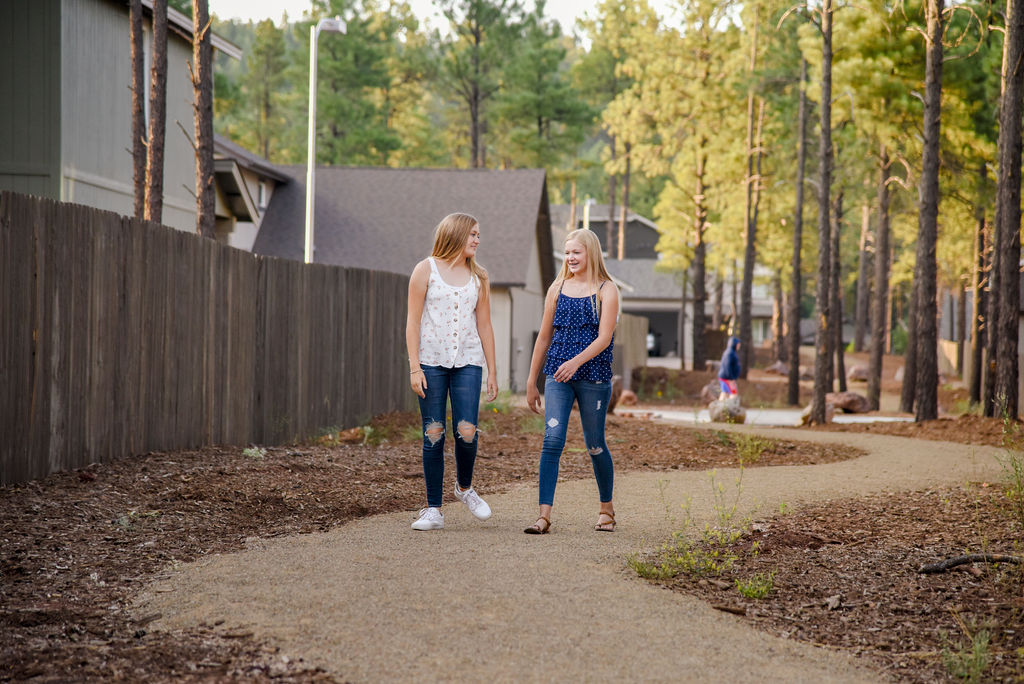 walking trails at new home community at Flagstaff Ranch